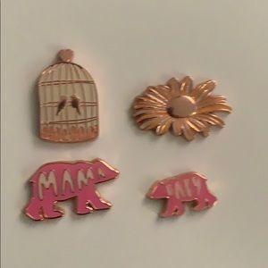 💥Fashion Enamel pins set of 4💥